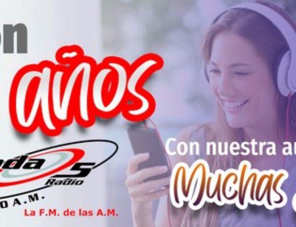 20 AÑOS DE ONDA 5, LA FM DE LAS AM